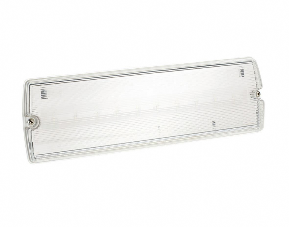 Bell Lighting 3.3W Spectrum LED Emergency Bulkhead IP65 Maintained Includes set of 4 New Legends